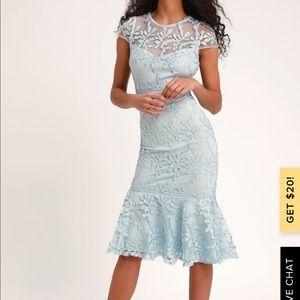 Baby blue midi dress